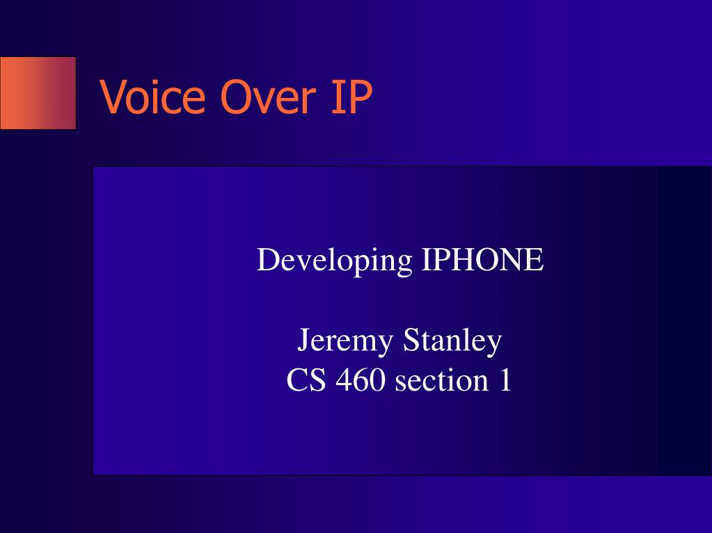 voice over ip l.