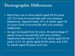 demographic differences28