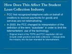 how does this affect the student loan collection industry