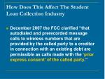how does this affect the student loan collection industry14