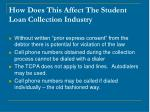 how does this affect the student loan collection industry15