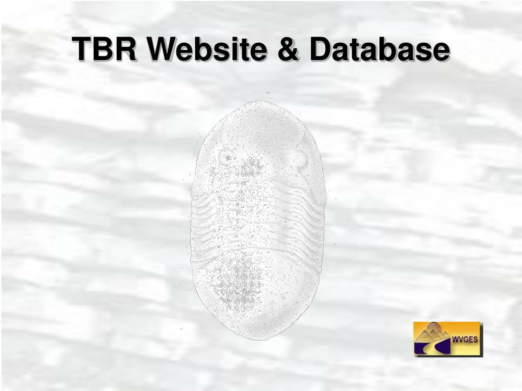 tbr website database l.