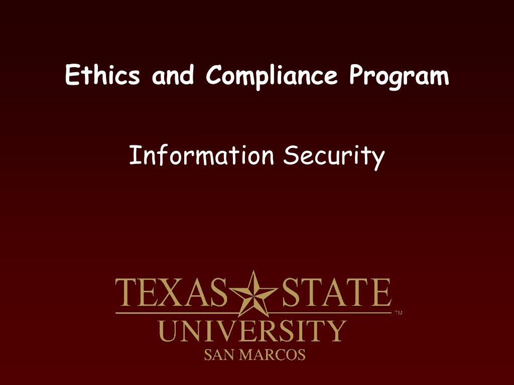 ethics and compliance program l.