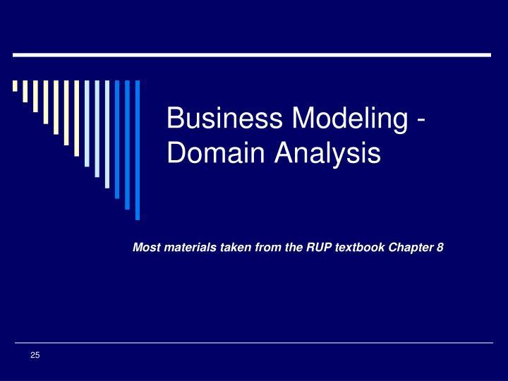 business modeling domain analysis n.