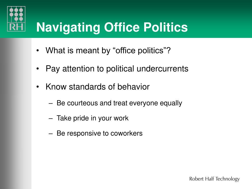 Navigating Office Politics