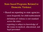 state based programs related to domestic violence
