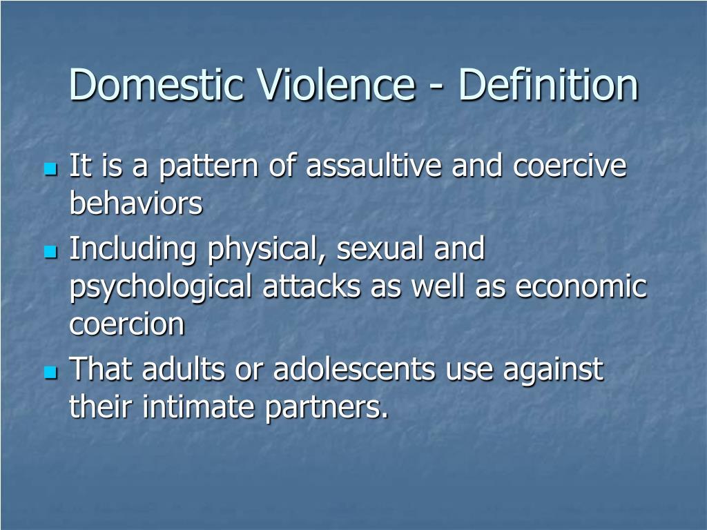 Domestic Violence - Definition