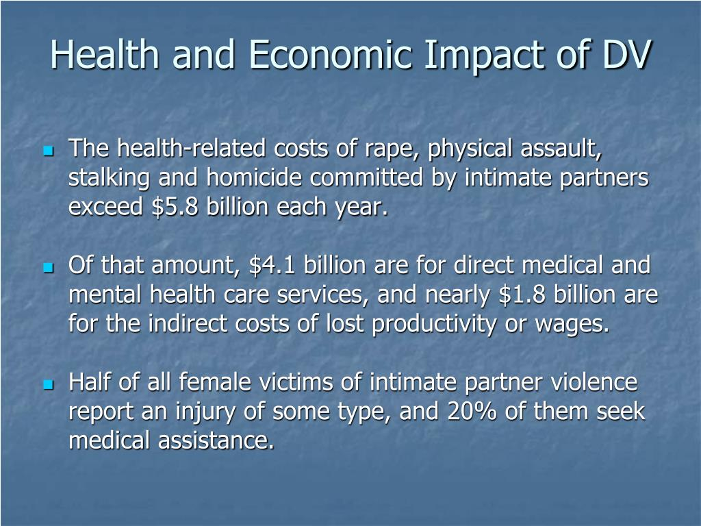 Health and Economic Impact of DV