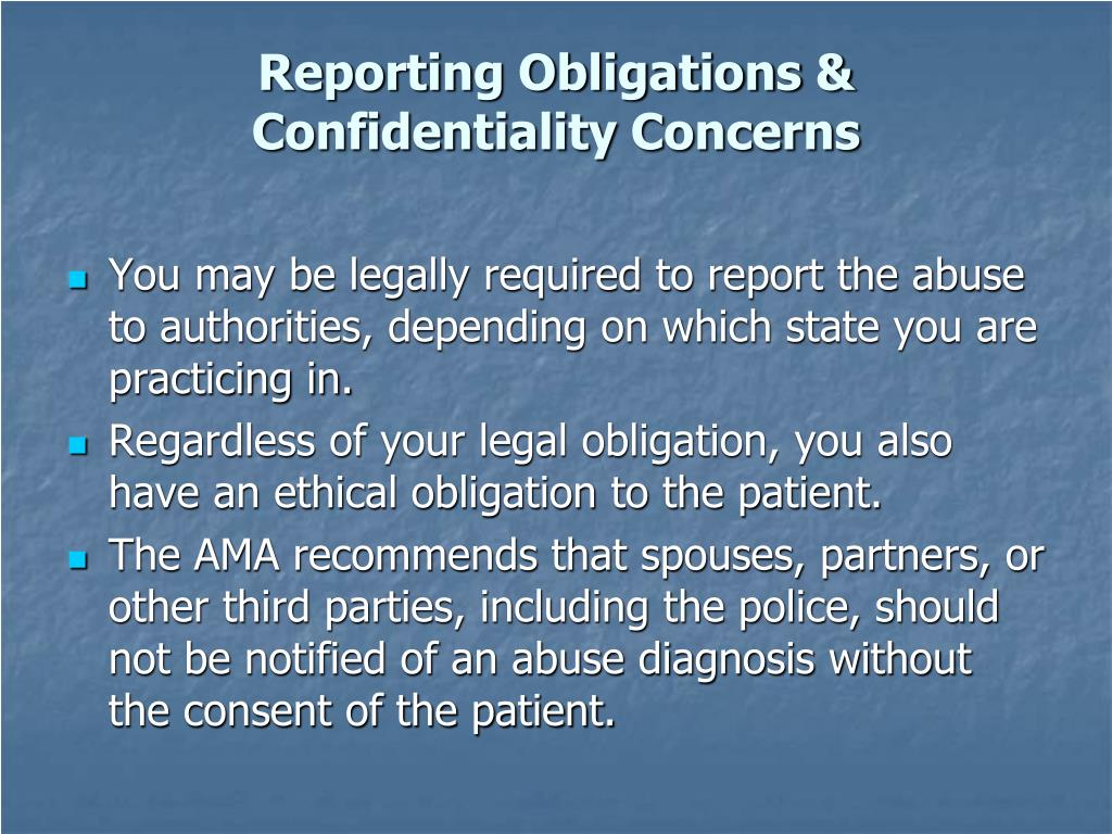 Reporting Obligations &