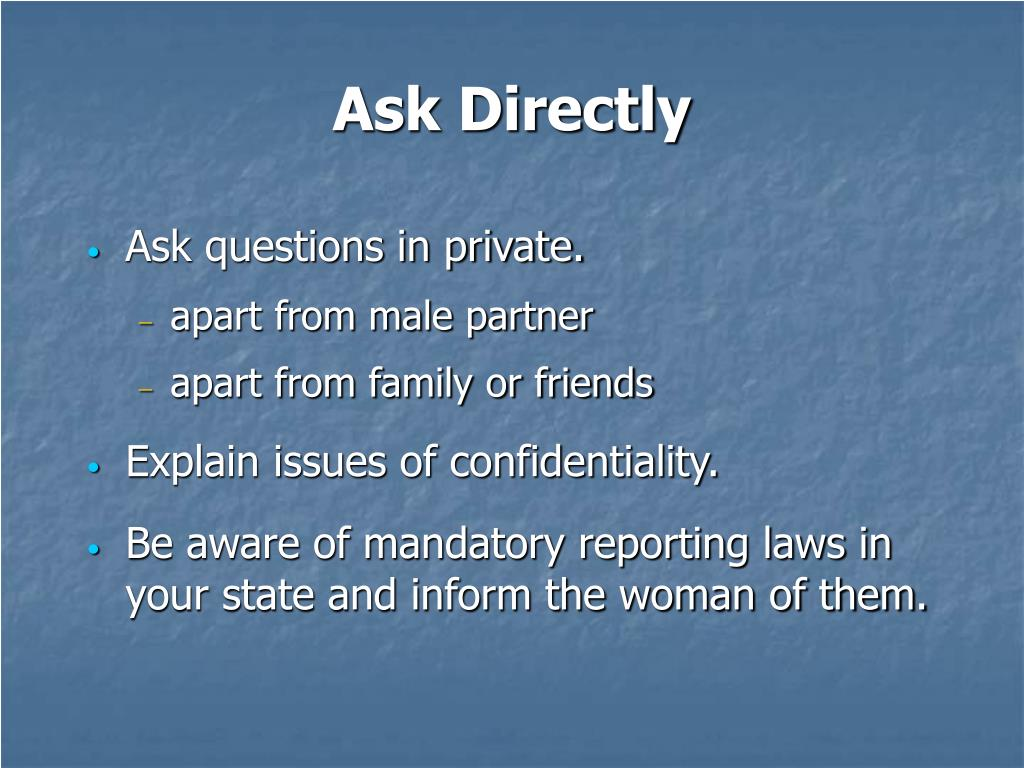 Ask Directly