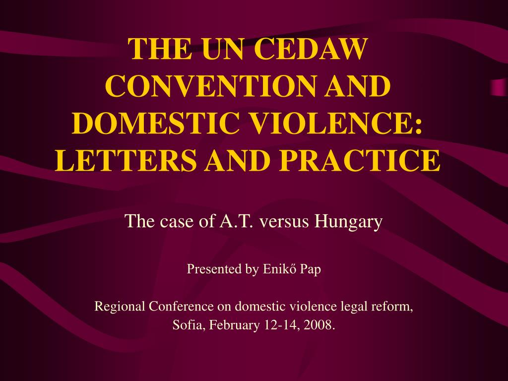 the un cedaw convention and domestic violence letters and practice l.
