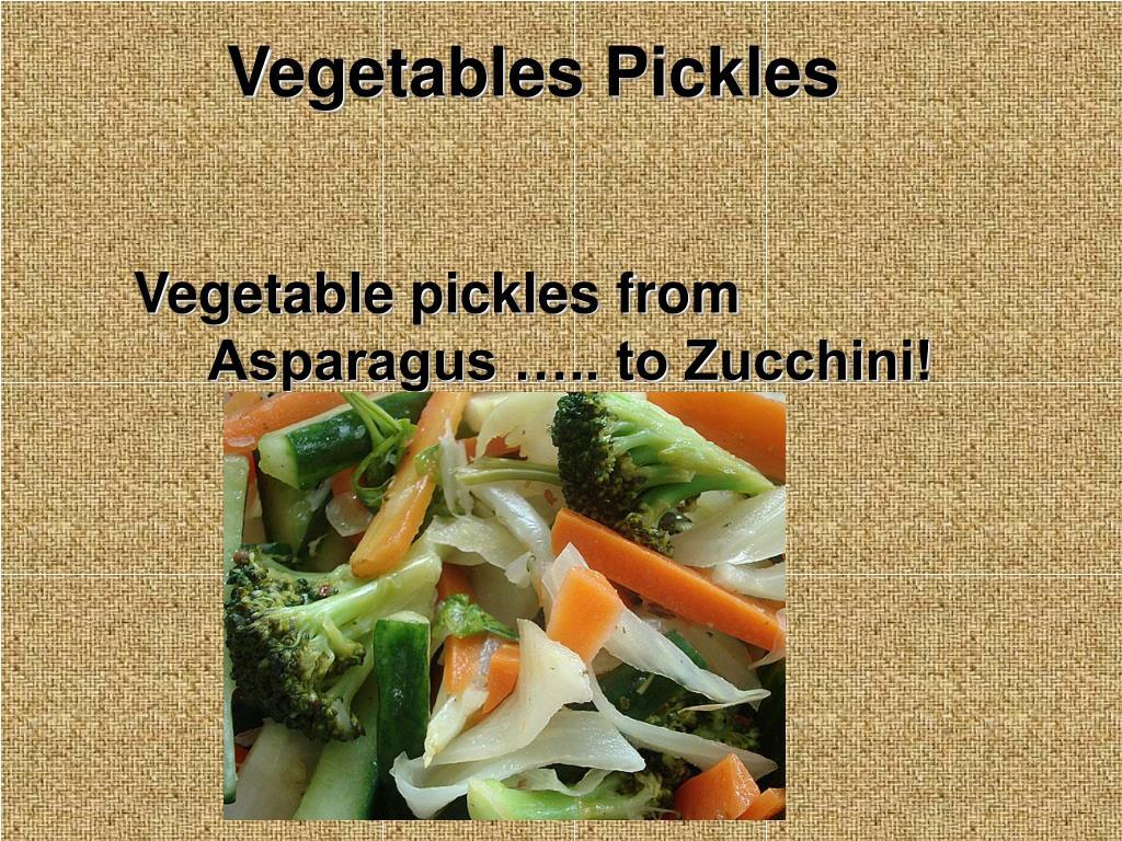 Vegetables Pickles