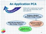 an application pca