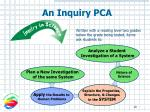 an inquiry pca