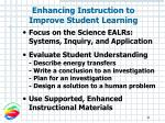 enhancing instruction to improve student learning
