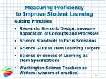 measuring proficiency to improve student learning