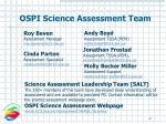ospi science assessment team