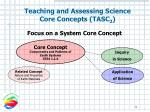 teaching and assessing science core concepts tasc 24