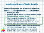 what items make the difference between basic level 2 and proficient level 3 students