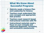 what we know about successful programs43