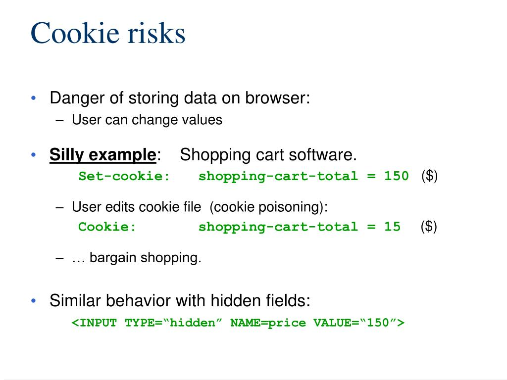 Cookie risks