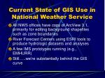 current state of gis use in national weather service