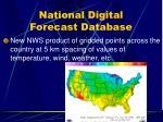 national digital forecast database