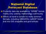 national digital forecast database1