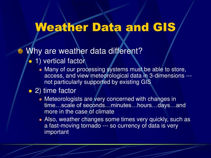 Weather Data and GIS