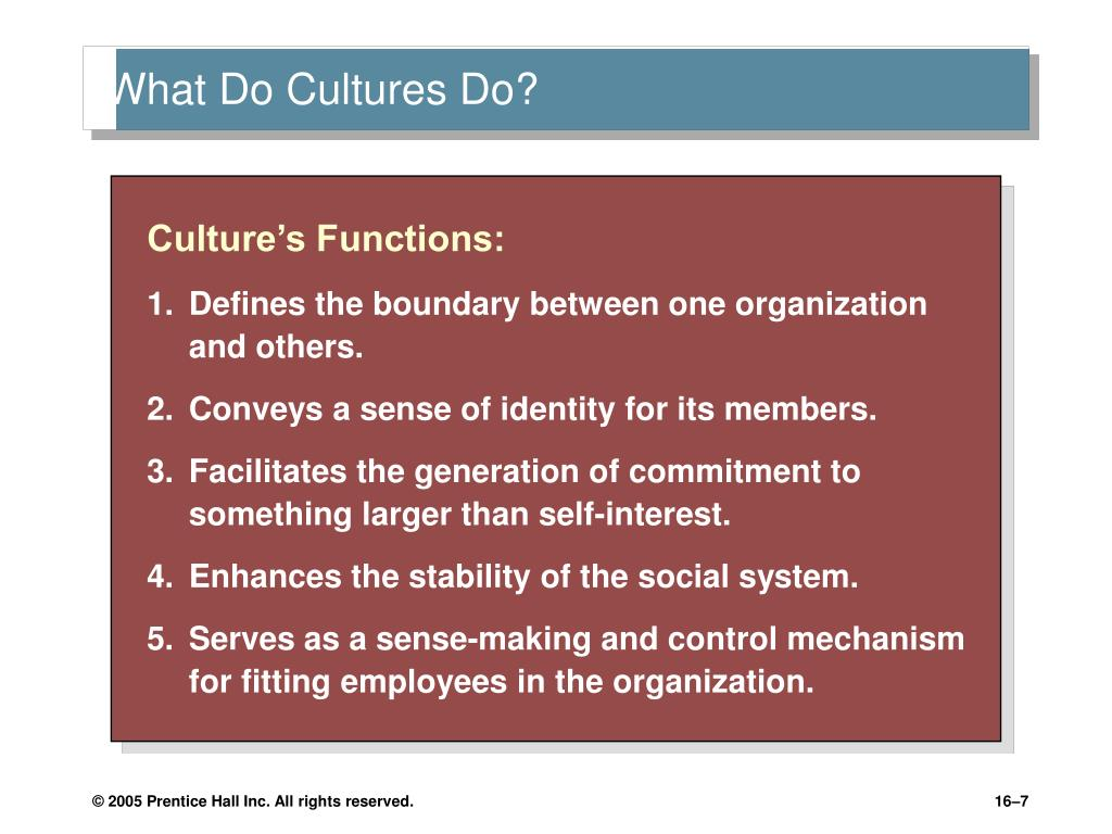 cultures as functional integrated system of society