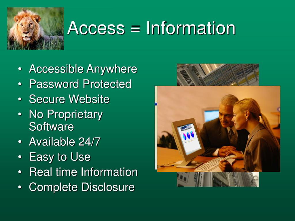 Access = Information