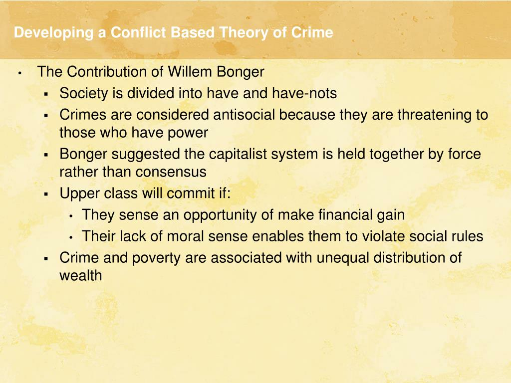 conflict theory and poverty