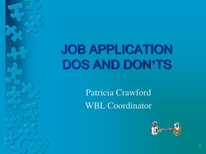 job application dos and don ts n.