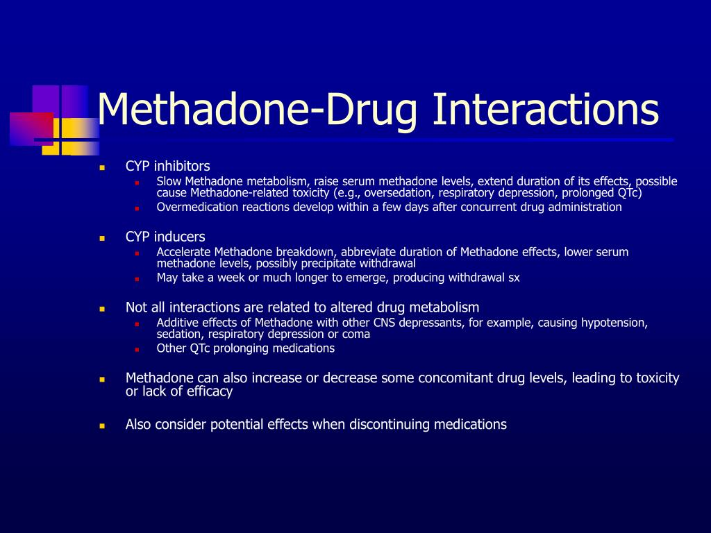 Methadone-Drug Interactions