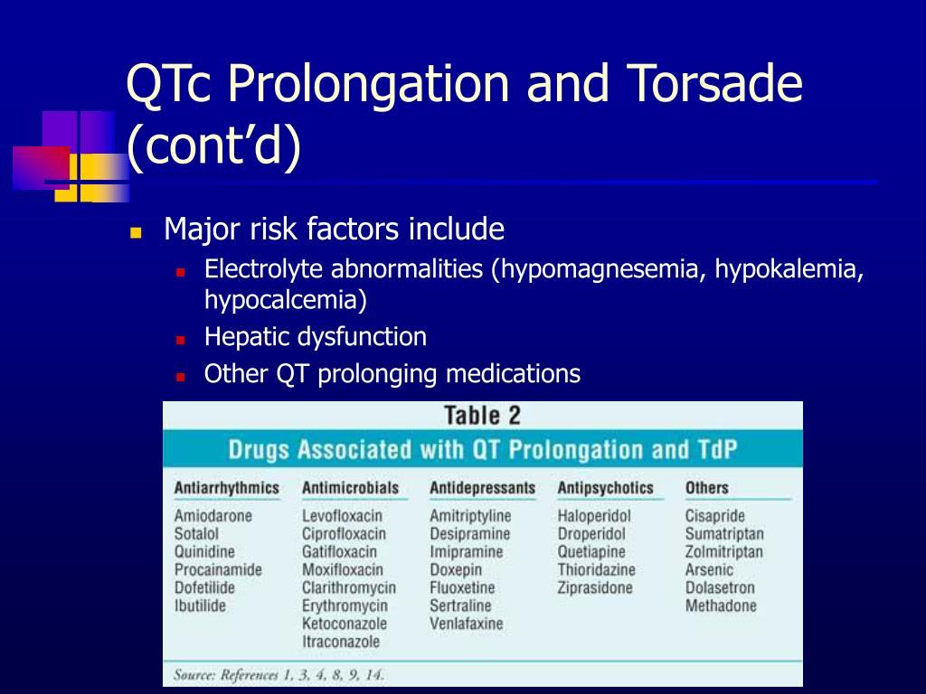 QTc Prolongation and Torsade (cont'd)