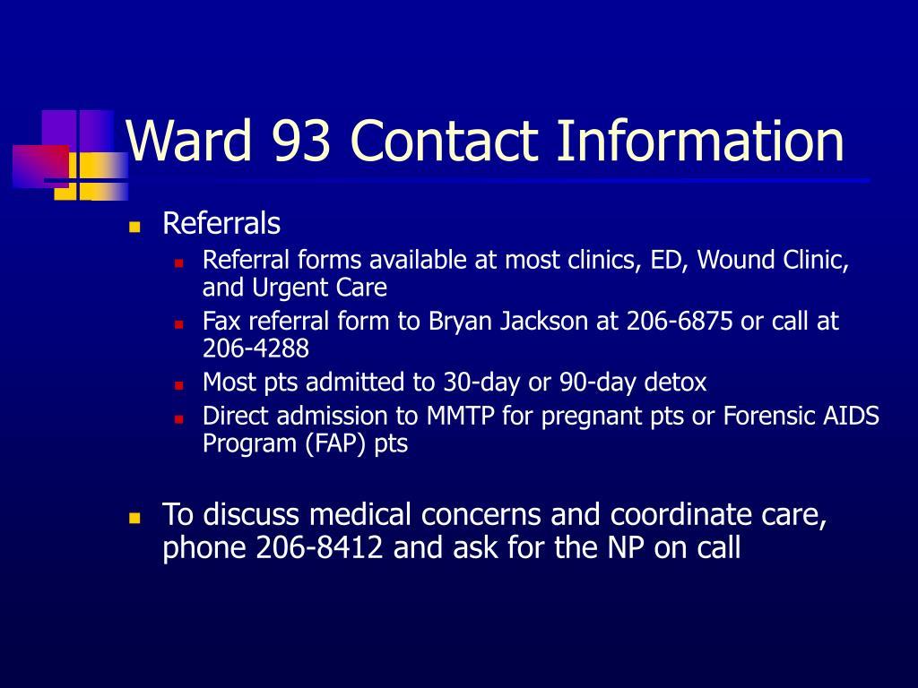 Ward 93 Contact Information