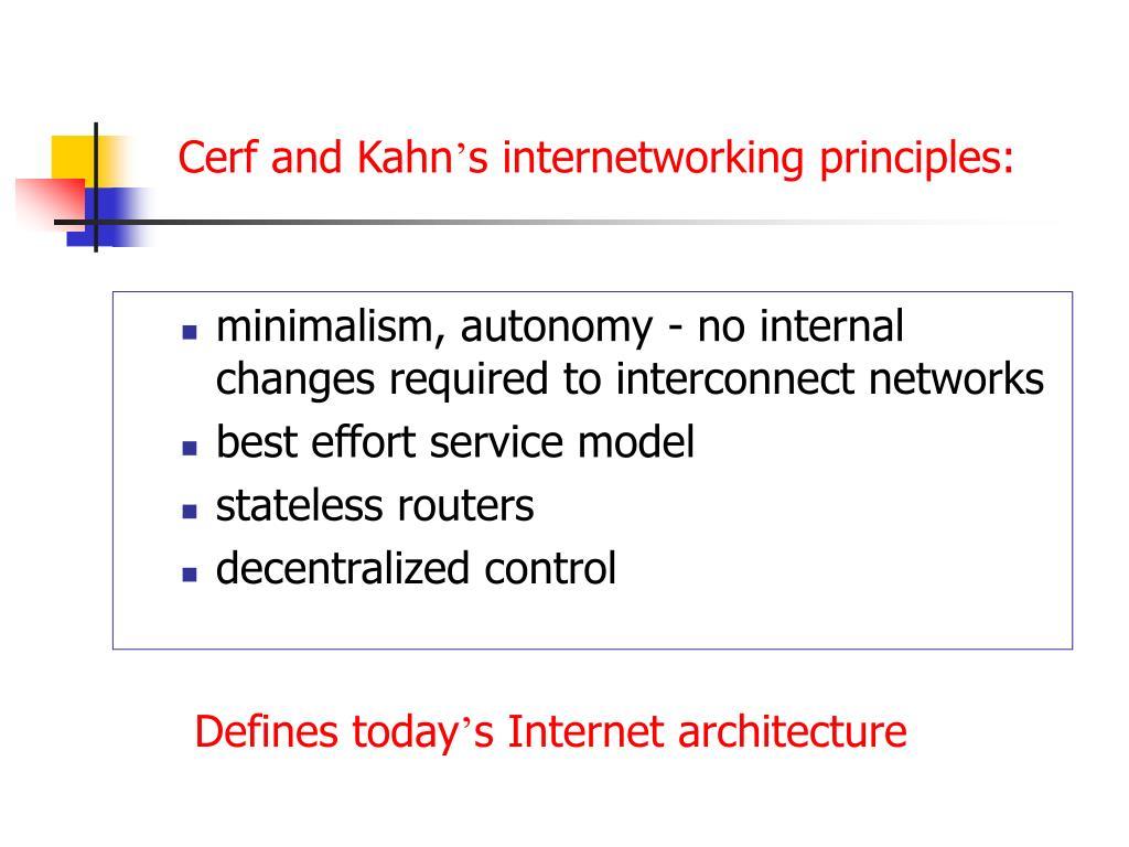 Cerf and Kahn