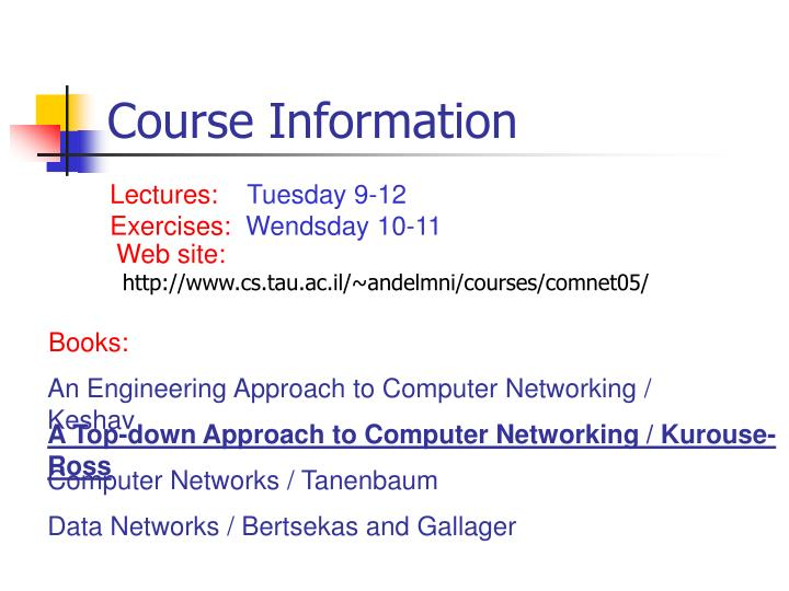 Course information