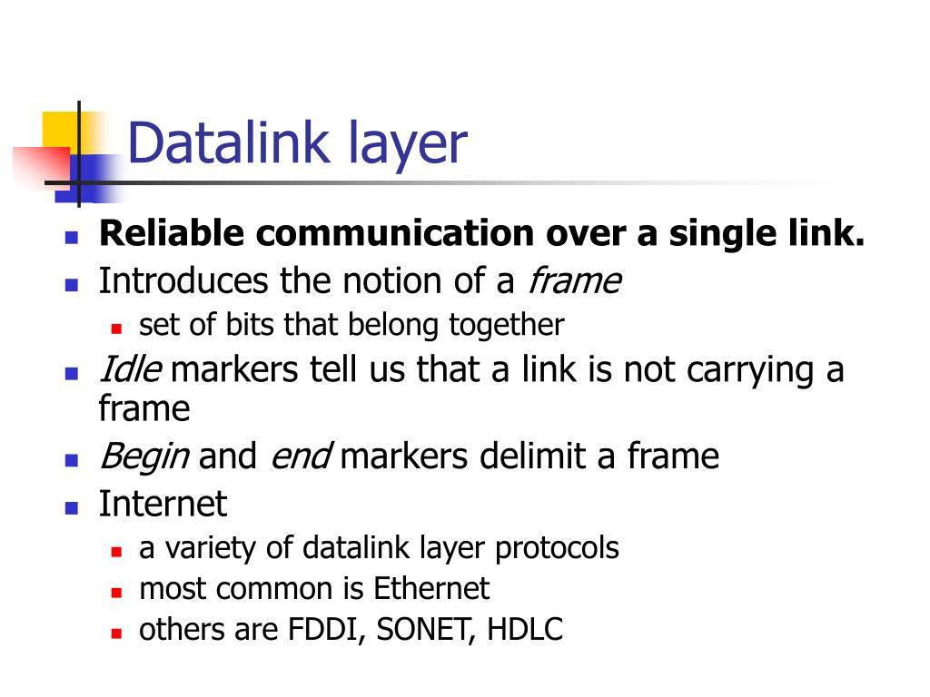 Datalink layer