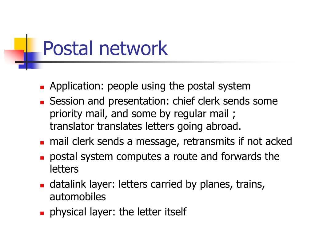 Postal network