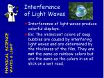 interference of light waves