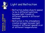 light and refraction