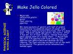 make jello colored
