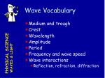 wave vocabulary