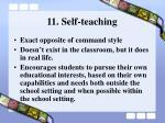 11 self teaching