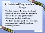 9 individual program learner s design