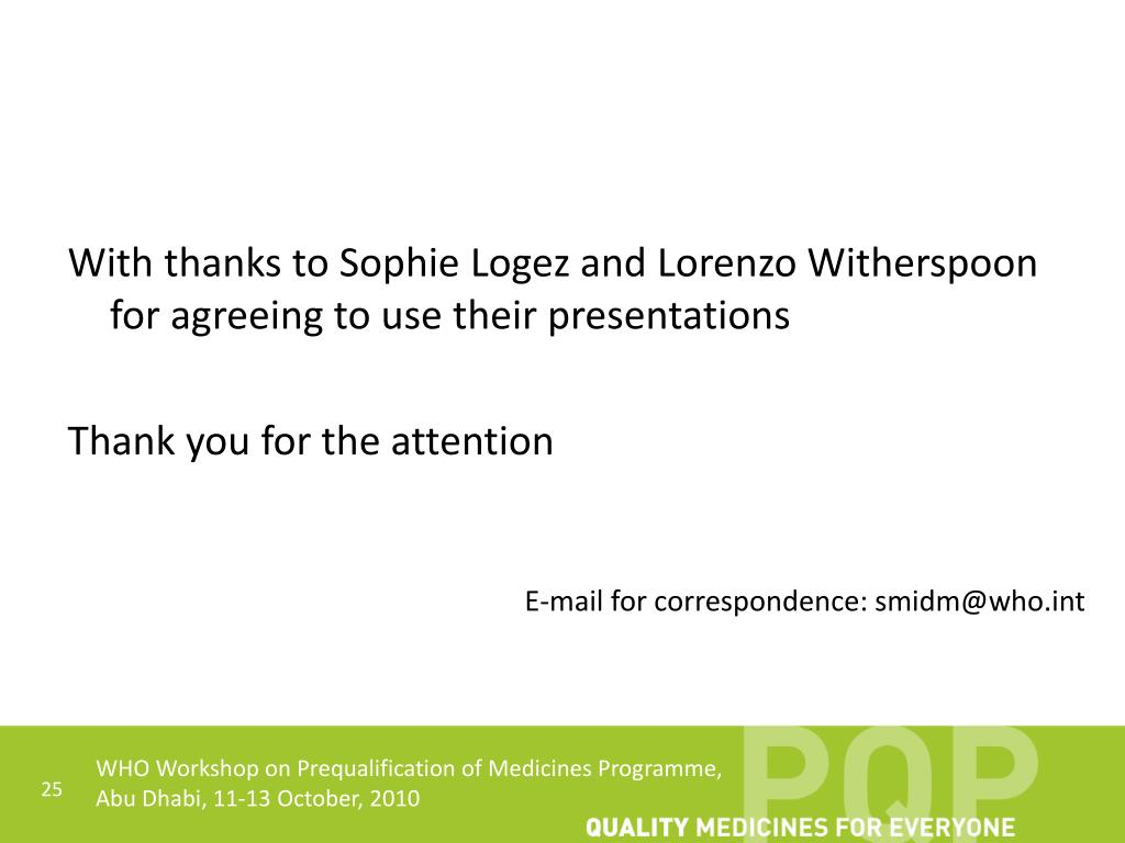 With thanks to Sophie Logez and Lorenzo Witherspoon for agreeing to use their presentations