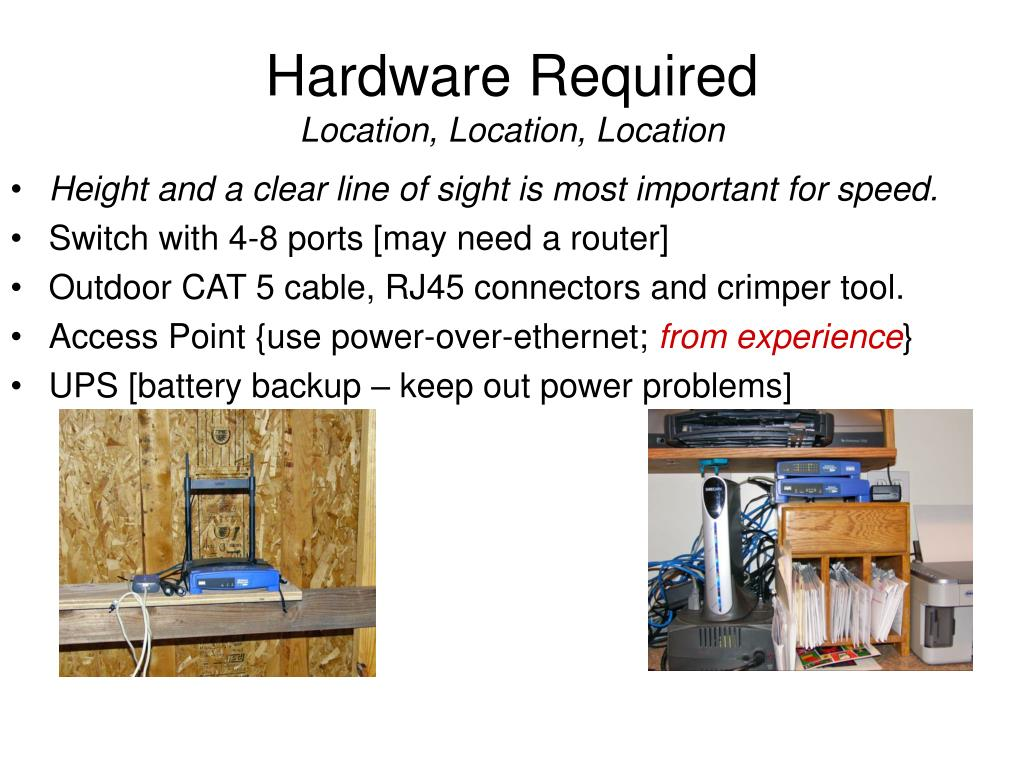 Hardware Required