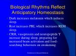 biological rhythms reflect anticipatory homeostasis