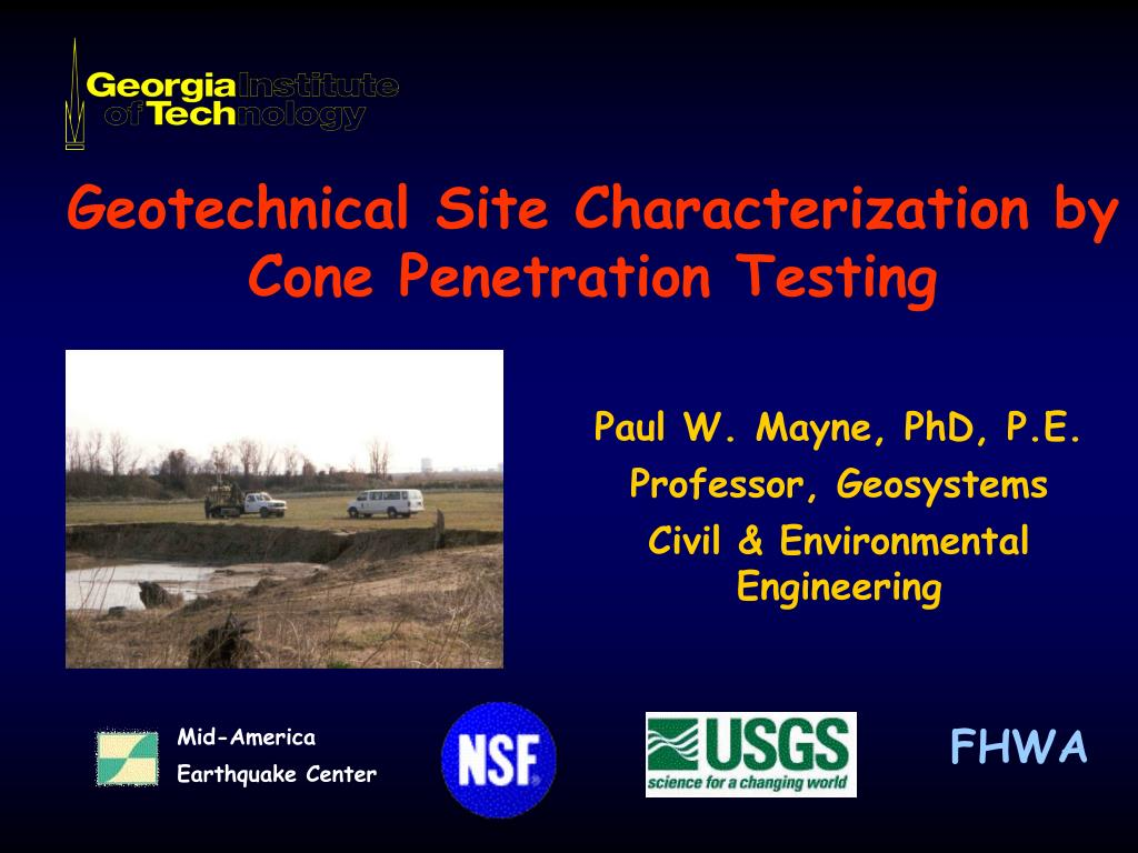Cone geotechnical penetration test opinion you